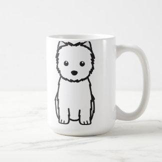 Caneca De Café Desenhos animados do cão de Terrier de monte de