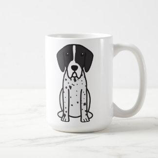 Caneca De Café Desenhos animados do cão do ponteiro