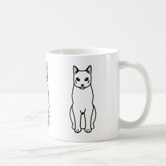 Caneca De Café Desenhos animados do gato azul do russo