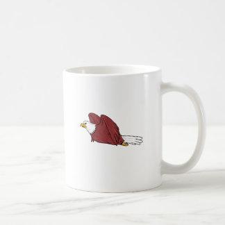 Caneca De Café Desenhos animados do vôo da águia americana