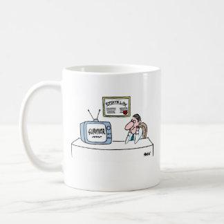 Caneca De Café Desenhos animados engraçados do advogado do