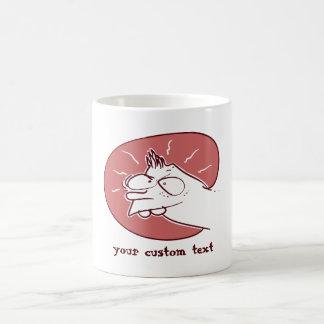Caneca De Café desenhos animados engraçados do miúdo prankish