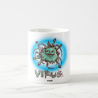 Caneca De Café desenhos animados engraçados do vírus feio