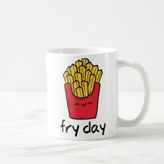 Caneca De Café Desenhos animados felizes das batatas fritas de