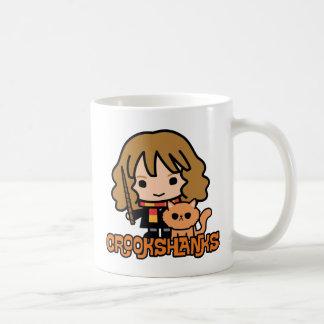 Caneca De Café Desenhos animados Hermione e Crookshanks