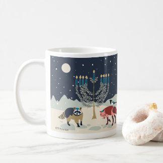 Caneca De Café Deserto de Menorah dos animais de Hanukkah