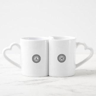 Caneca de café design ajustado do monograma de L &