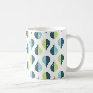Caneca De Café Design azul do teste padrão da dança | Limegreen