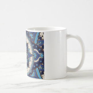 Caneca De Café Design azul e branco da arte turca do vintage do