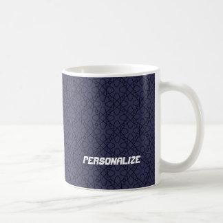 Caneca De Café Design azul escuro personalizado do átomo