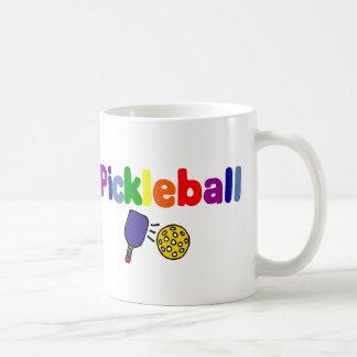 Caneca De Café Design colorido da arte de Pickleball