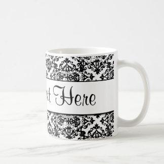 Caneca De Café Design customizável preto e branco
