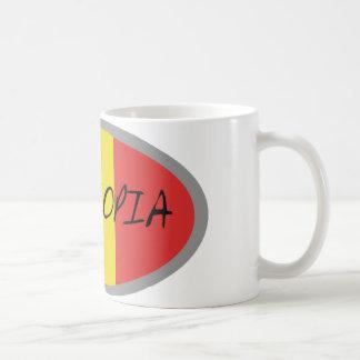 Caneca De Café Design da bandeira de Etiópia!