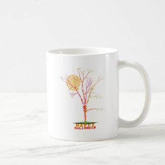 Caneca De Café Design da lua da árvore da palavra do Dia das