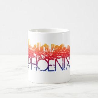 Caneca De Café Design da skyline de Phoenix