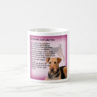 Caneca De Café Design de Airedale Terrier - poema do Auntie