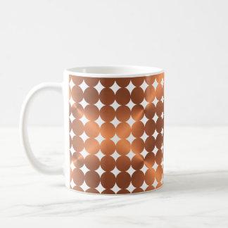 Caneca De Café Design de cobre dos pontos do falso