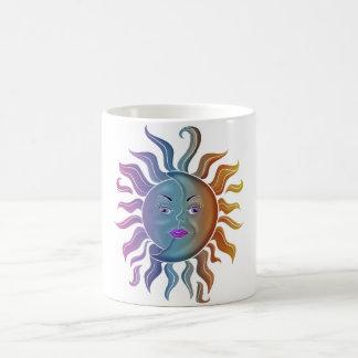 Caneca De Café Design de Sun & de lua