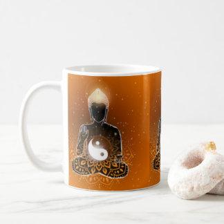 Caneca De Café Design de Ying Yang da meditação de Buddha