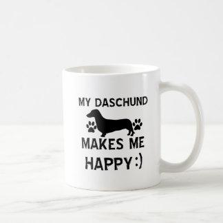 Caneca De Café Design do cão de Daschund