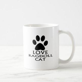 CANECA DE CAFÉ DESIGN DO CAT DO AMOR RAGDOLL