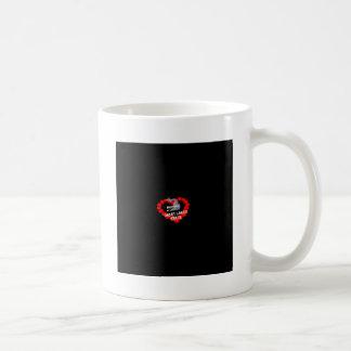 Caneca De Café Design do coração da vela para o estado de
