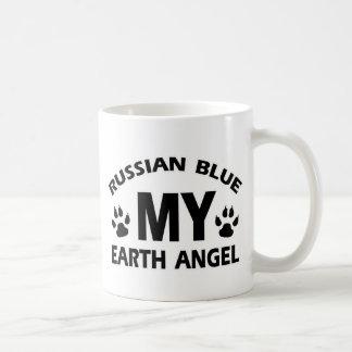 Caneca De Café design do gato azul do russo
