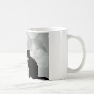 Caneca De Café Design do gato - poema do amigo