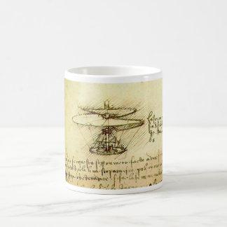 Caneca De Café Design do helicóptero de Davinci