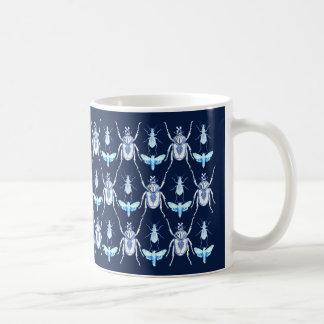 Caneca De Café Design do inseto, Goliath  + Traças, azuis