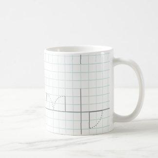 Caneca De Café Design do papel de gráfico