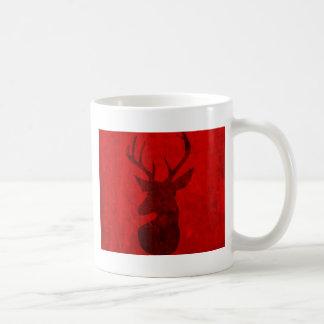 Caneca De Café Design do veado vermelho