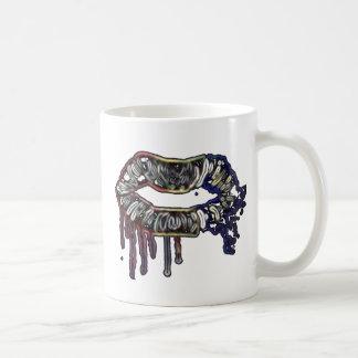 Caneca De Café Design dos lábios do arco-íris