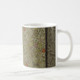 Caneca De Café Design floral do impressão da arte do salgueiro do