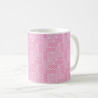 Caneca De Café Design Funky de Memphis do rosa Pastel