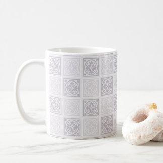 Caneca De Café Design geométrico do azulejo