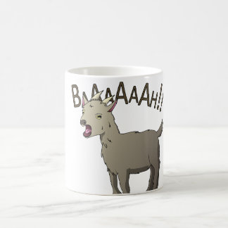 Caneca De Café Design gritando do macarronete do Doodle da cabra