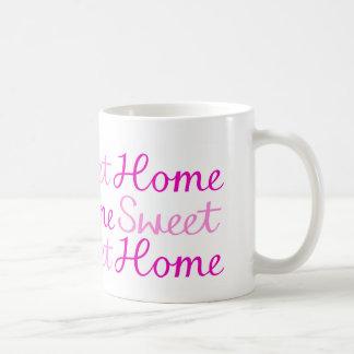 Caneca De Café Design Home doce Home do roteiro nos rosa
