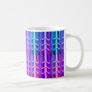 Caneca De Café Design industrial Miami do abstrato das cores do
