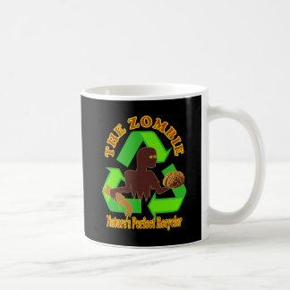 Caneca De Café Design perfeito do reciclador da natureza do zombi