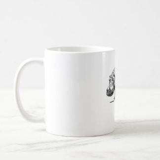 Caneca De Café Design simples do hipopótamo