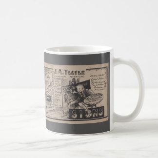 Caneca De Café Designer gráfico idoso da propaganda do pintor de