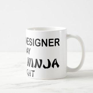Caneca De Café Designer gráfico Ninja mortal