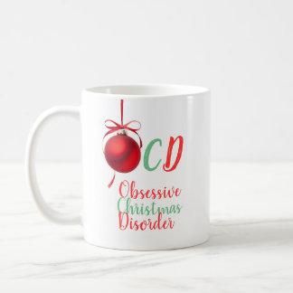 Caneca De Café Desordem obsessiva do Natal