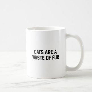 Caneca De Café Desperdício dos gatos da pele