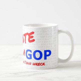 Caneca De Café Destruição de Don T. Voto GOP/trem - café Copo-com