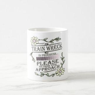 Caneca De Café Destruição do trem