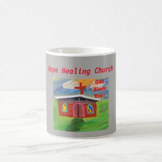 Caneca De Café Deus abençoe curas da igreja da esperança você
