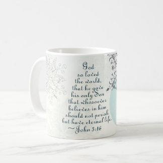 Caneca De Café Deus do 3:16 de John assim que amado o mundo,