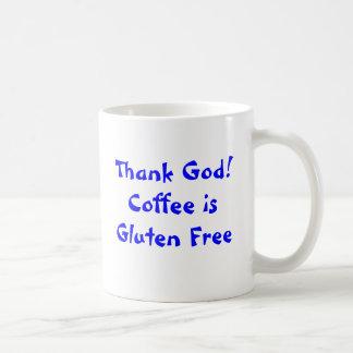 Caneca De Café Deus do obrigado! O café é sem glúten